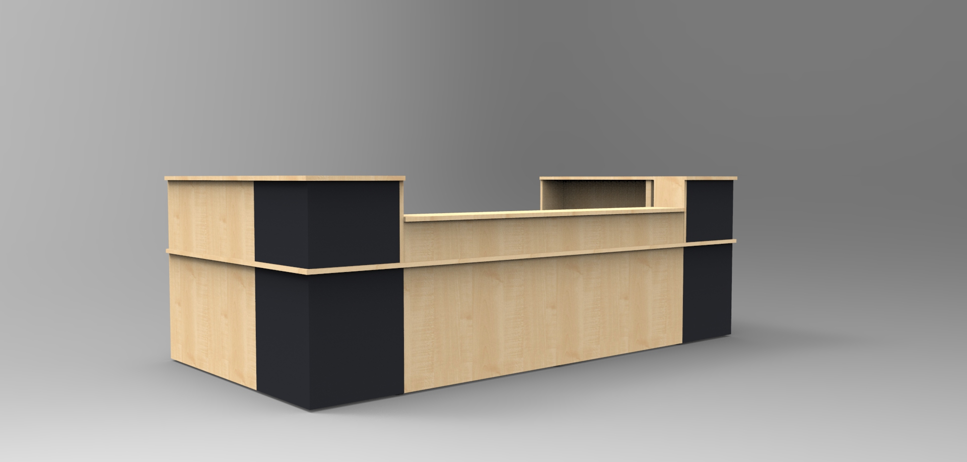 Image 36C - Classic Maple & Graphite with a half height top unit