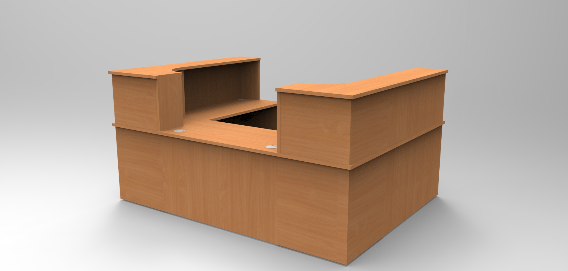 Image 31C - Classice Single reception desk finished in Beech