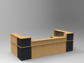 Image 49C - Oak & Graphite Grey Classic reception desk with a half height top unit