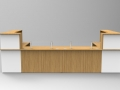 Image 46C - Oak & White Classic reception desk with an open front