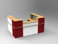 Image 17C- Single Classic reception desk in three finishes Oak, White & Burgundy