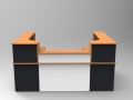 Image 30C -Single Classic reception desk in three finishes Beech, White & Graphite.