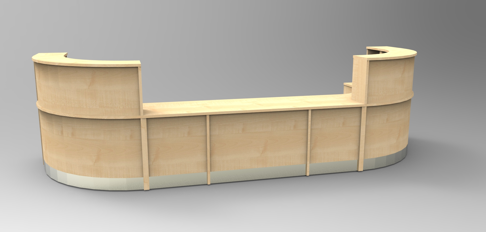 Image 24/3 Flex Maple reception desk