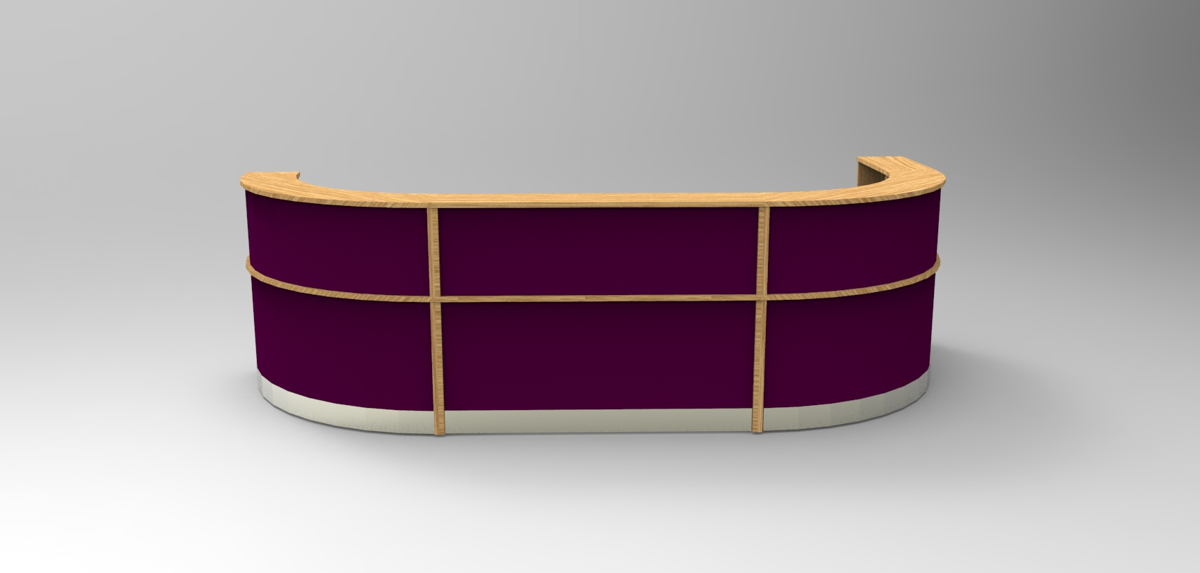 Image 25 Large Flex bespoke reception desk, Oak  with Viola modesty panels
