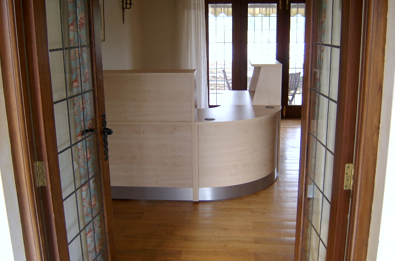Image 62F - Flex reception desk- The Light House Guest House Guest House, Frome,Somerset.