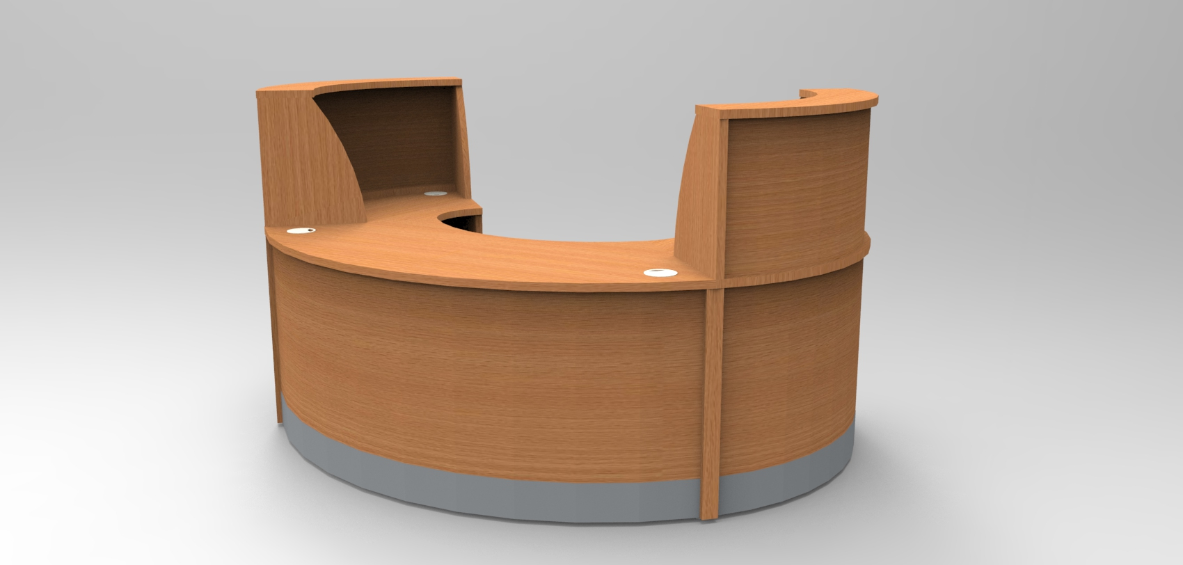 Image 29F/SP - Flex Small Polo reception desk Beech  (2166mm wide x 1483mm deep)