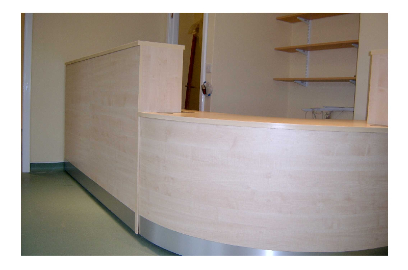 Image 58FF - Full front Flex veterinary surgery reception desk - view 1