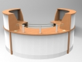 Image 38F/LP- Large Flex Polo Beech and White (2400mm wide x 2050mm deep)