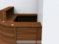 Image 28/2- Flex Walnut dental reception desk- gate and flap closed