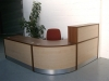 Image 12F - Flex reception desk -Walnut and Maple