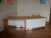 Image 10F - Flex Curved reception desk DDA nursery school reception desk, Oak and White