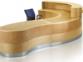 FMV616 Mixed real wood veneer reception desk