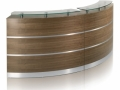 ECCC619 Curved modular reception desk with Aluminium inlays