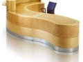 EFMV617 Mixed real wood veneer reception desk