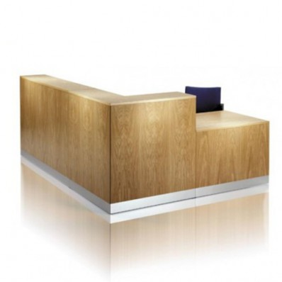 ECFRA604- Square cornered wood veneer reception desk