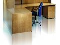 ECFRA616- Square cornered wood veneer reception desk-rear view