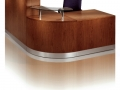 EBFT606 - Wood veneer reception desk