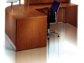 EBFT607 - Wood veneer reception desk-rear view