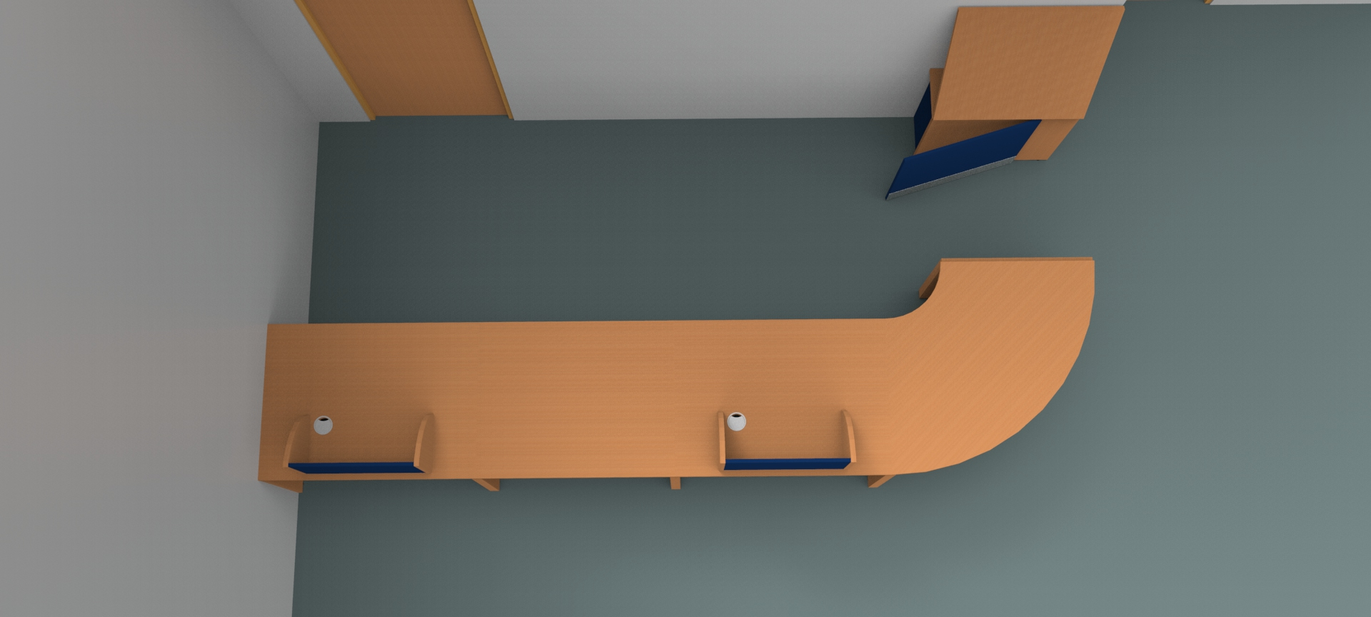 Render-Bespoke Flex reception desk -High view