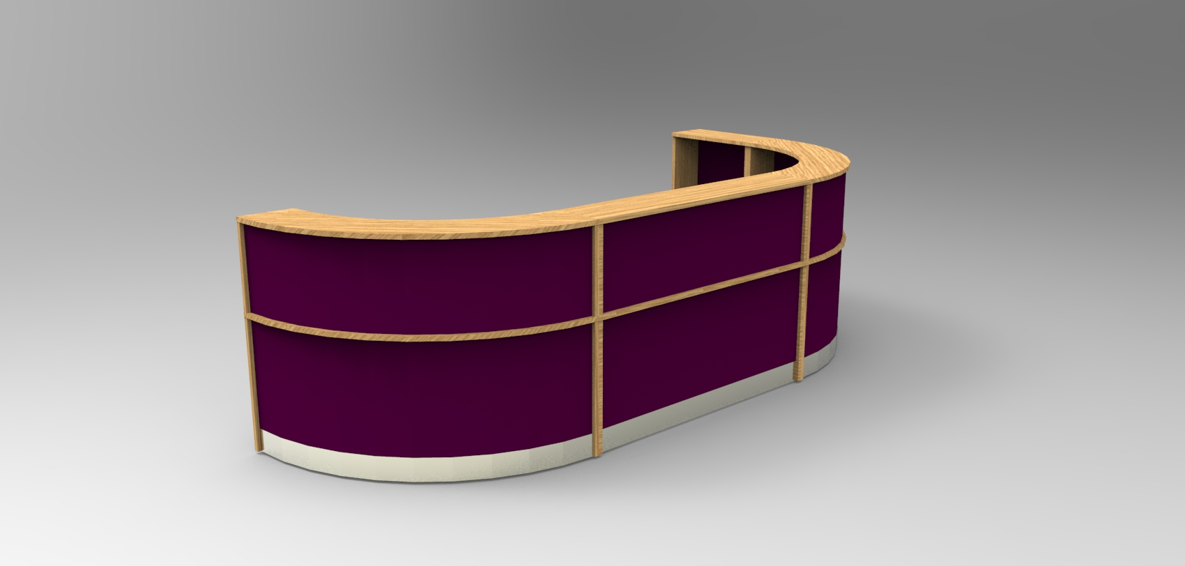 Render-Large Bespoke Flex reception desk