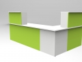 Render -Bespoke Classic reception desk White/Lime Green