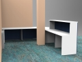 Render- Bespoke DDA reception desk rear view
