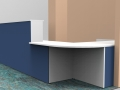 Render- Bespoke DDA reception desk, corner view