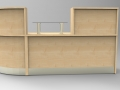 Render - Maple reception desk with glass shelf