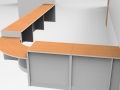 Render-Flex DDA reception counter-Beech/Light Grey rear view