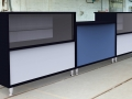 Image 14 Salon - Salon reception desk finished in Black, White and Blue