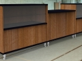 Image 9 Salon - Walnut and Black 3 piece Walnut and Black reception counter