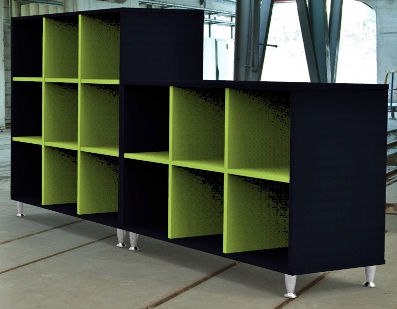 Image 19 Salon - High and low storage units available to match the salon reception counters