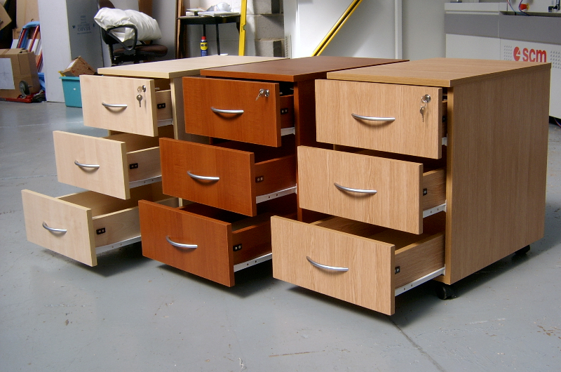 3 drawer under-desk pedestals