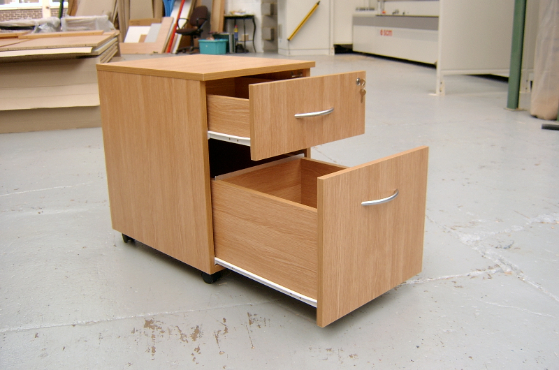 2 drawer under-desk pedestal