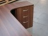 Bespoke 3 drawer desk high pedestal