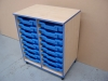 Double tray unit - Blue