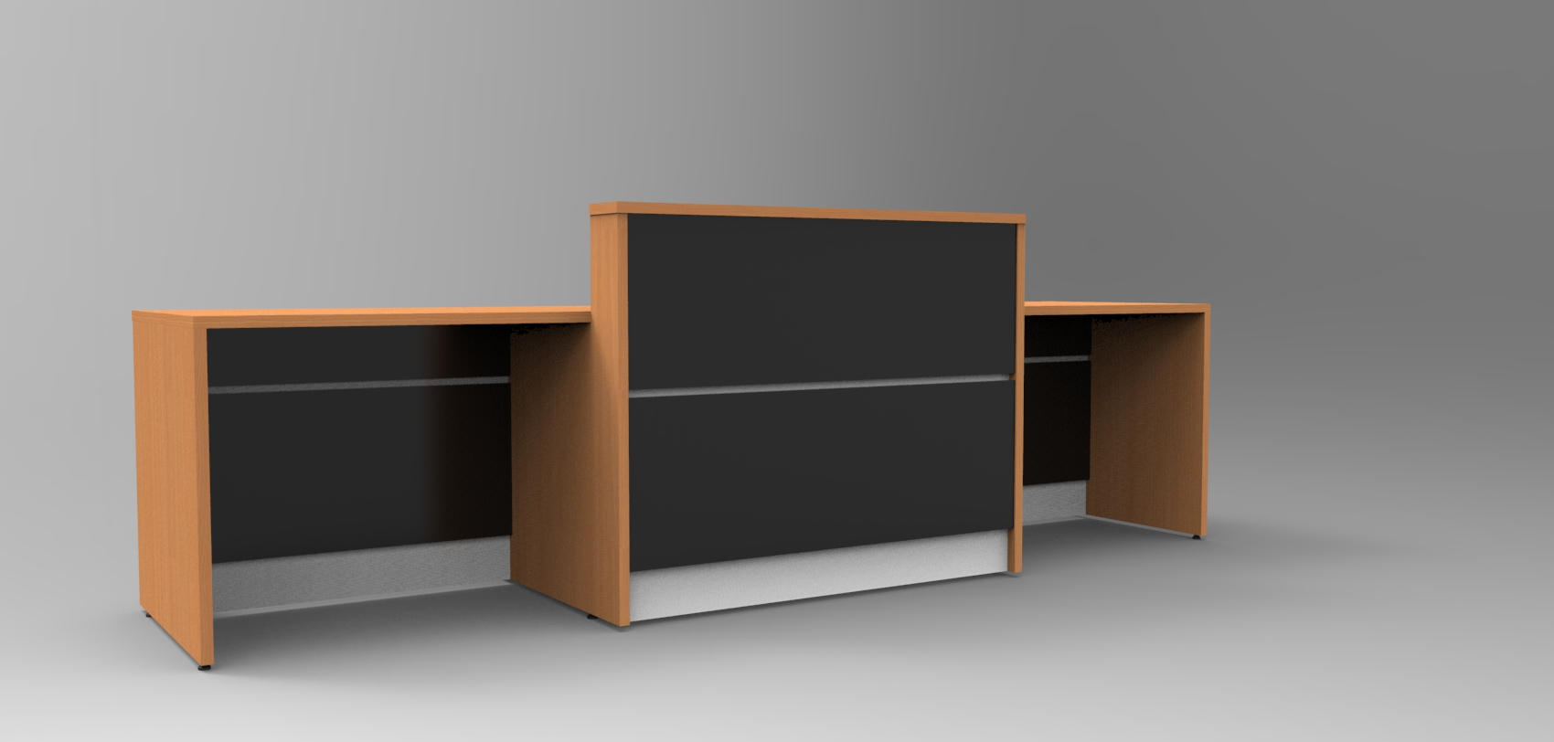 Image 12UA - DDA - Union reception desk finished in Beech and Black