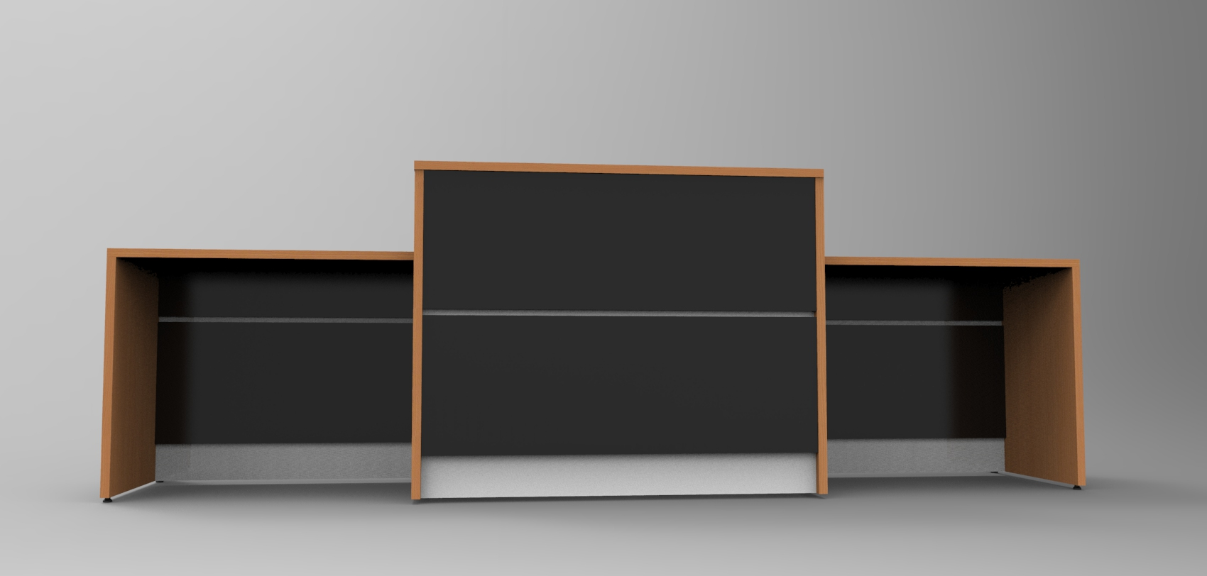 Image 12UB - DDA Union reception desk finished in Beech and Black