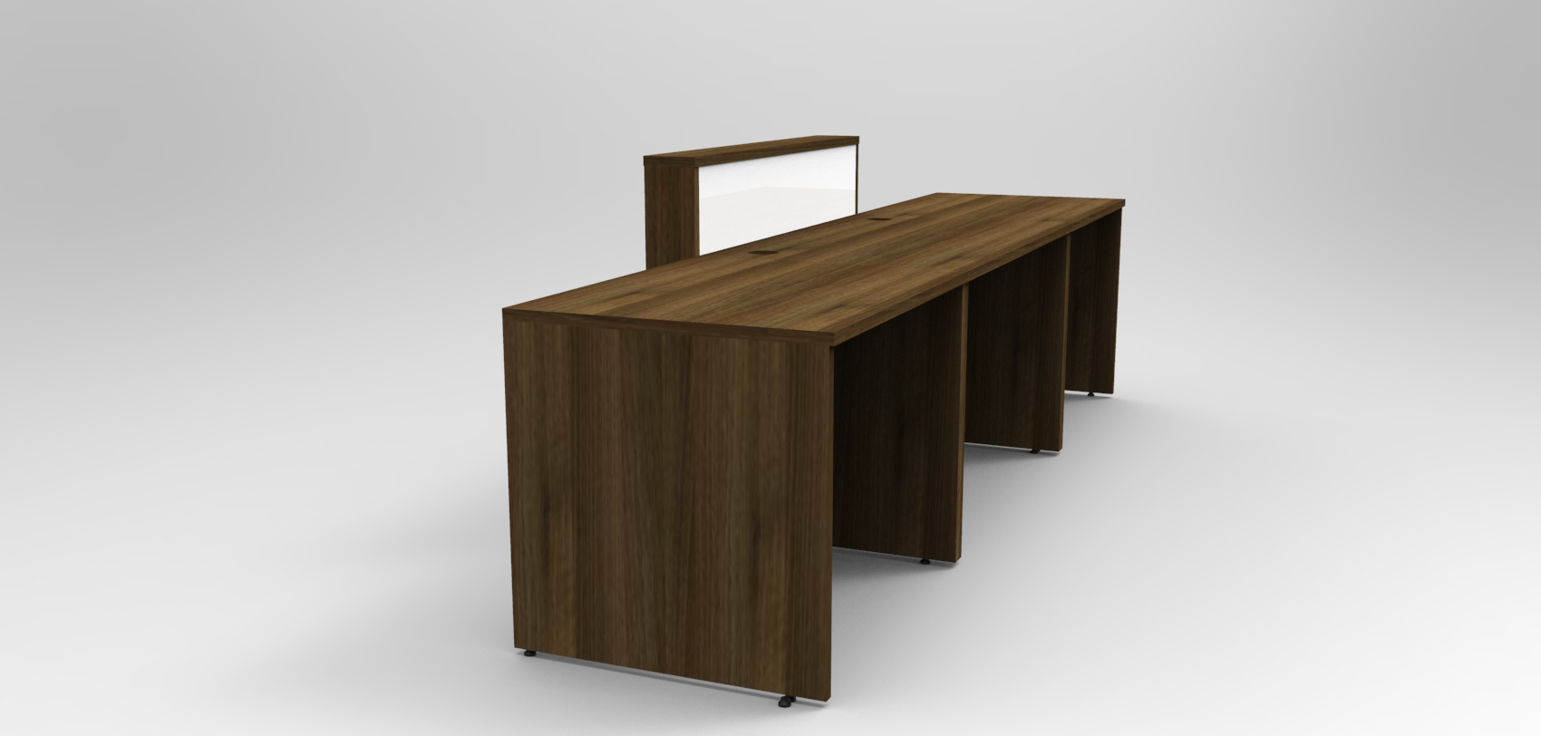 Image 13UB -Union Walnut and White reception desk