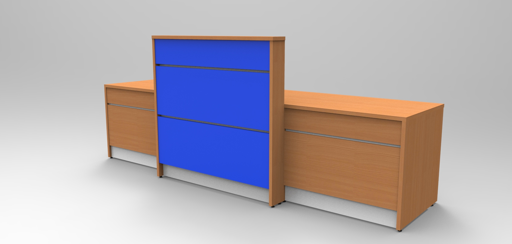 Image 8U -Union reception desk - Beech and Blue.
