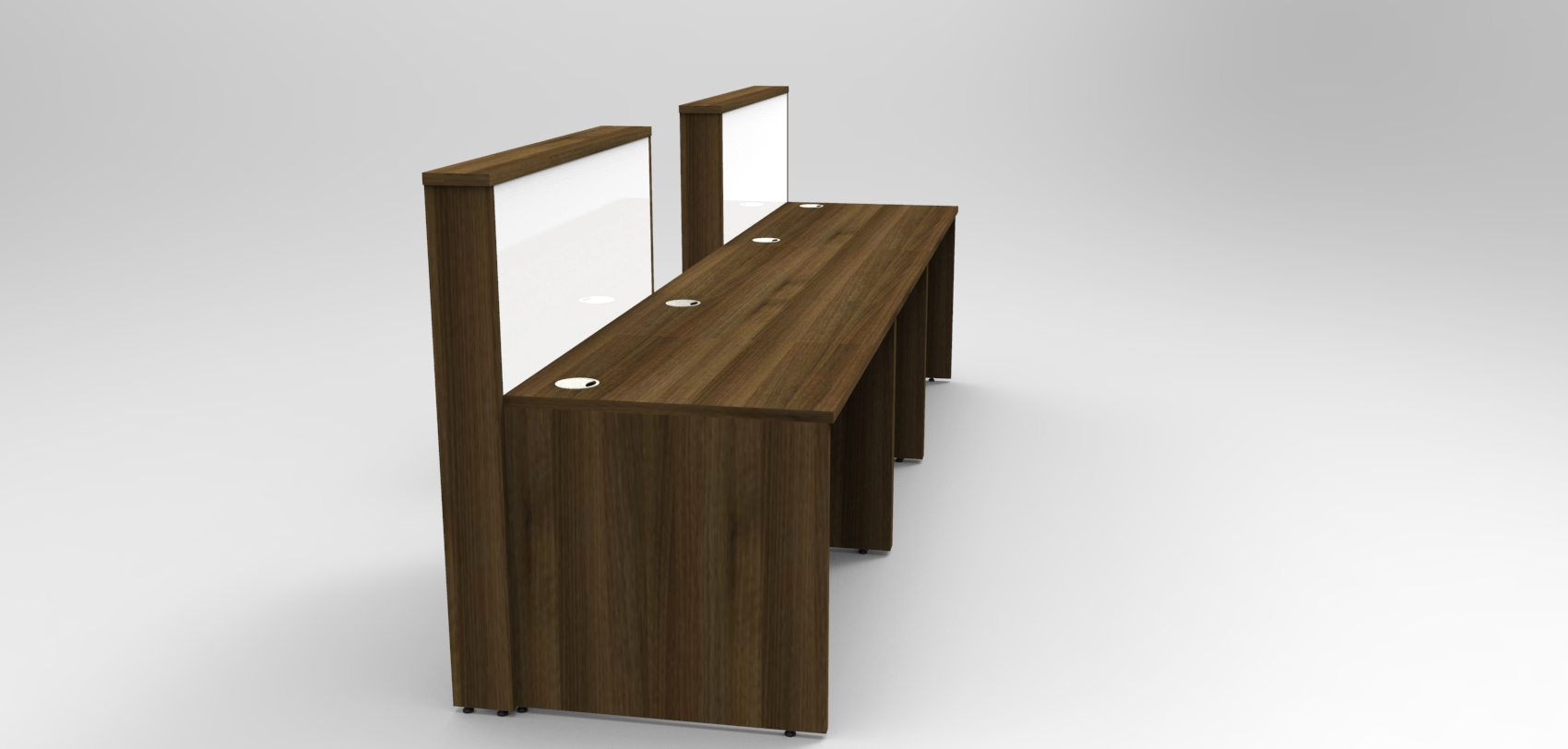 Union Walnut and White DDA reception desk