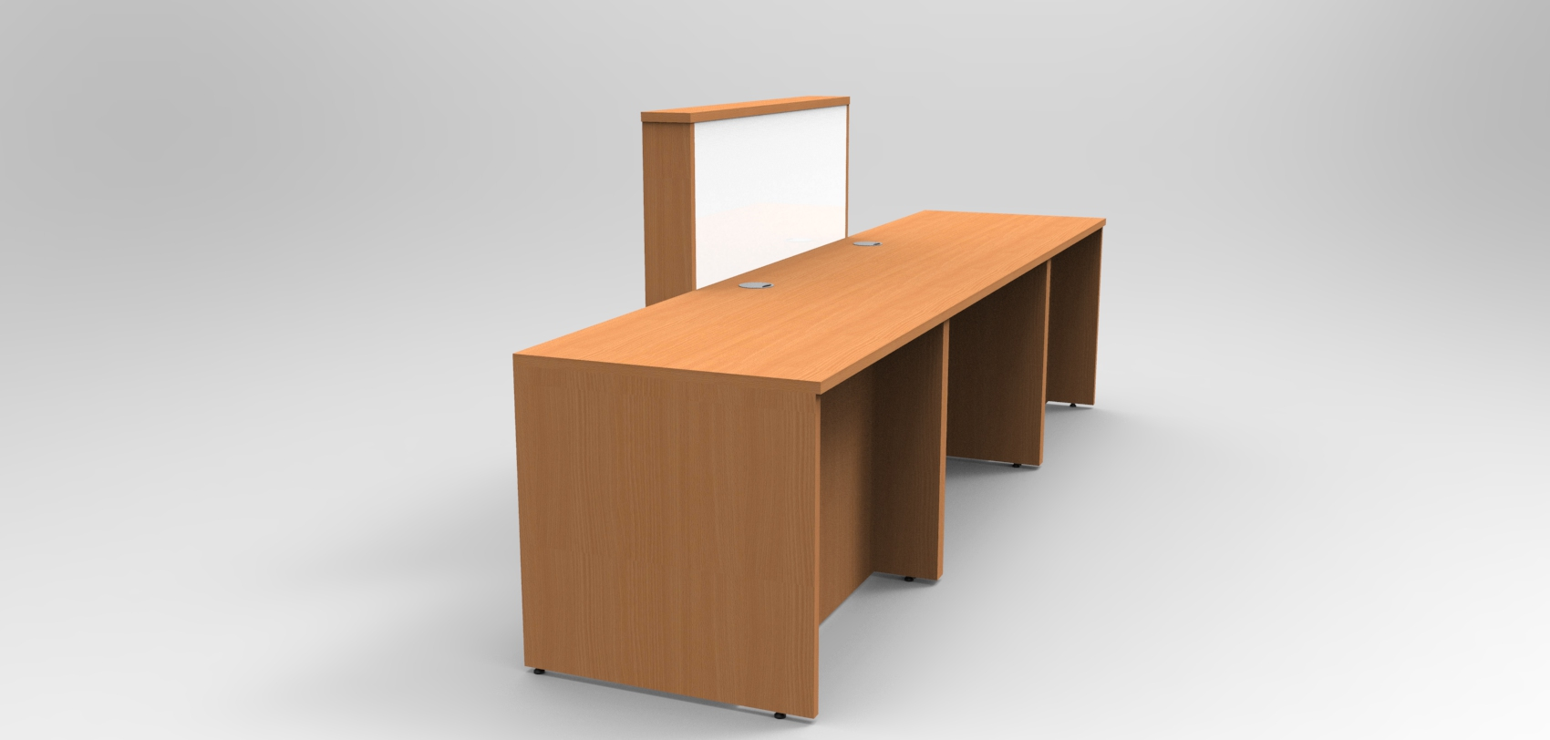 Union Reception desk , Beech and White