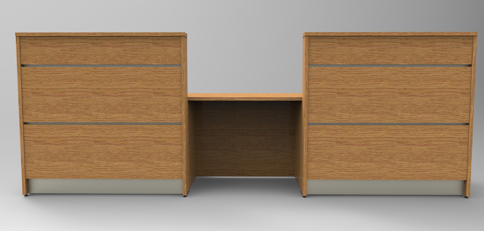 Image 6UA - Tall Standard Oak DDA recption desk