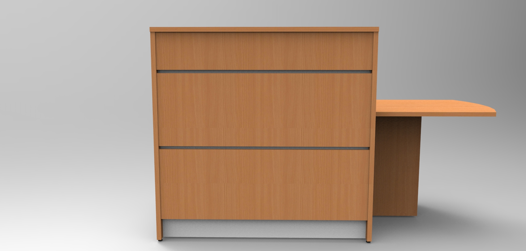Union Compact Reception desk - Beech