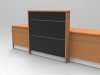 Image 9U Union reception desk Beech and Black