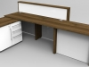 Union Walnut and White reception desk