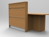 Image 5UC - Tall Union compact Oak reception desk with extension side view