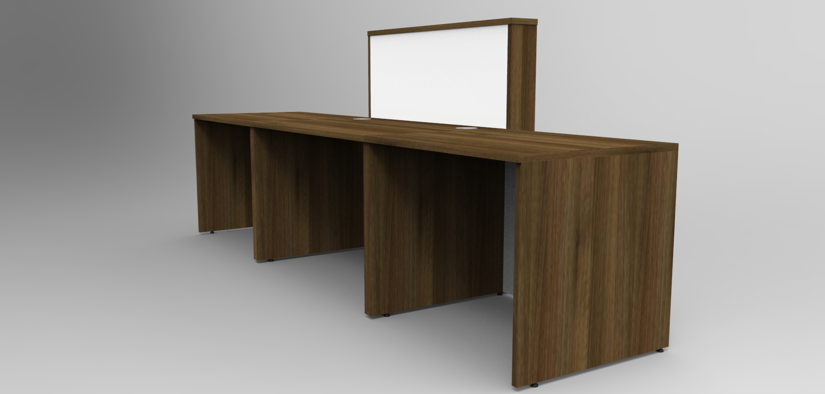 Image 13UD-Walnut and White Union reception desk