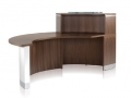 CT595.Crescent reception desk. Image shows the rear of the reception desk.