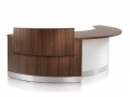 CT594.Crescent reception desk with a privacy screen